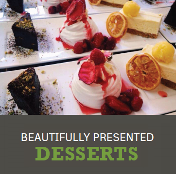Beautifully Presented Desserts