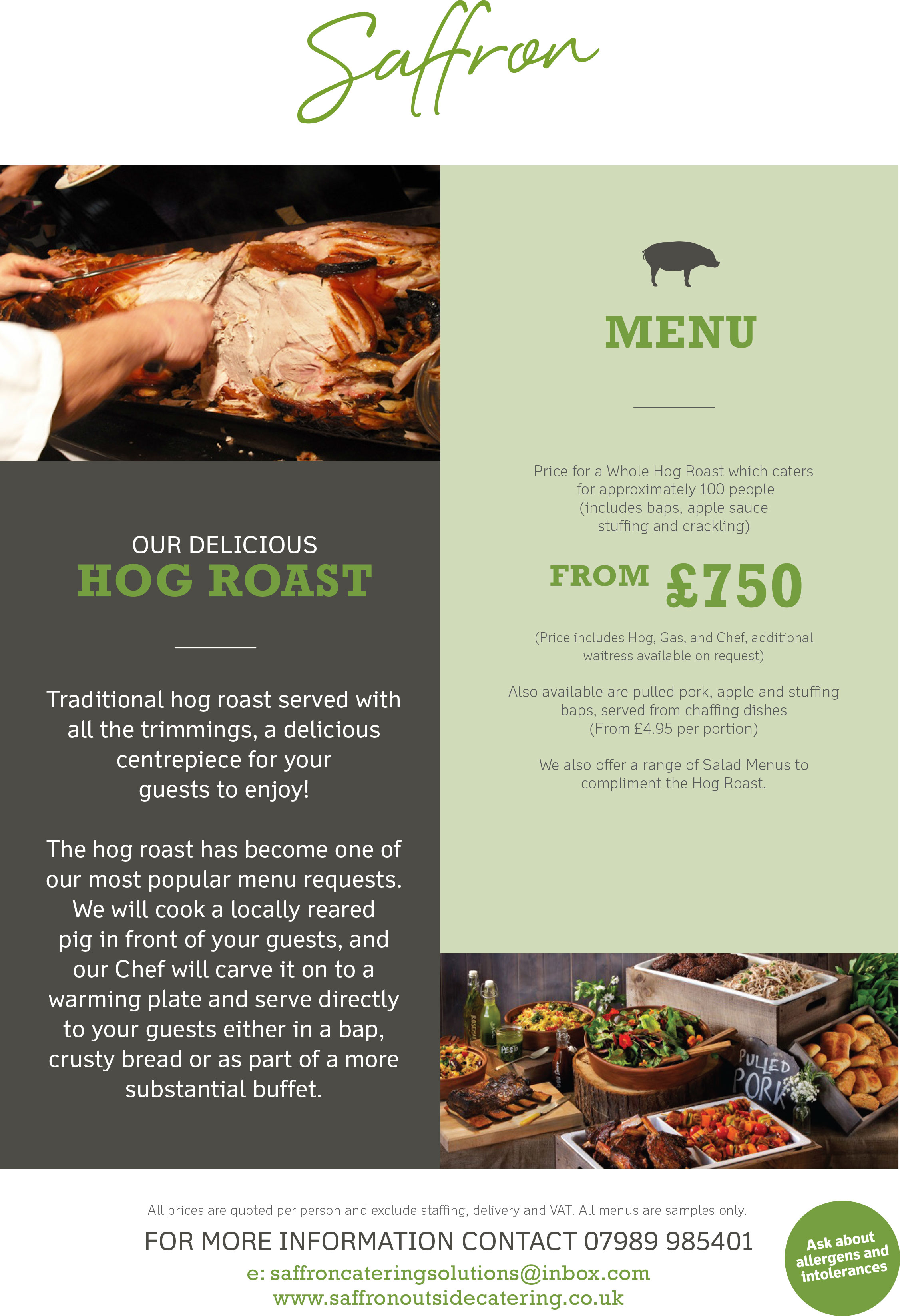 Hog Roast Menu