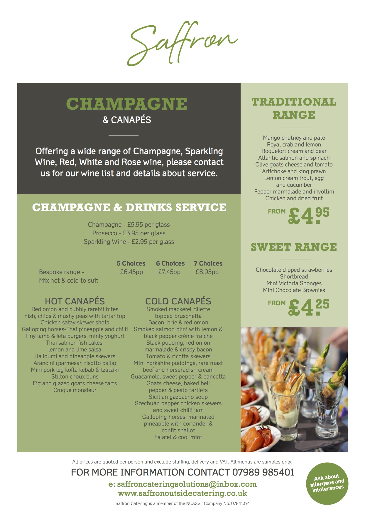 CHAMPAGNE AND CANAPES 1 - Champagne and Canapes
