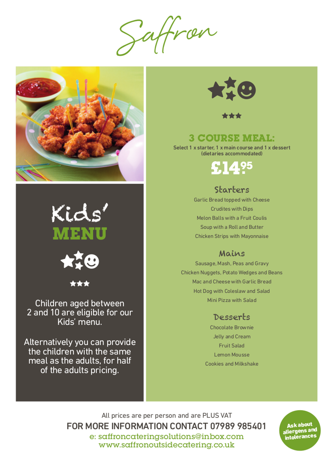 childrens menu full - Kids Menu
